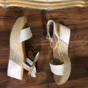 Cole Hann New Cream Platform Sandals